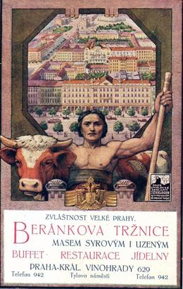 Beránkova tržnice, pohlednice, 1910. Zdroj: M. Frankl