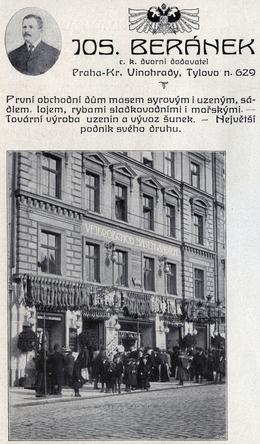 Beránkova tržnice, velikonoční nákupy, 1912. Zdroj: M. Frankl