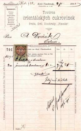 Maršner III - Firemní účet 1895