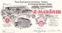 Maršner IV - záhlaví dopisní ho papíru 1914