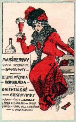 Maršner VI - Dopisní zálepka po 1900