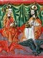 korunovace Karla IV. a Blanca z Valois