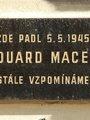 Pamětní deska Ed. Macka