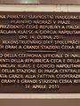 Na památku slavnostního otevření... – pamětní deska (foto D. Broncová, 2021)