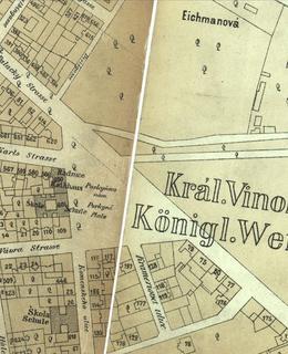 Mapa 1884, náměstí Míru