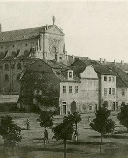 Kostel sv. Ignáce, před 1863. MMP