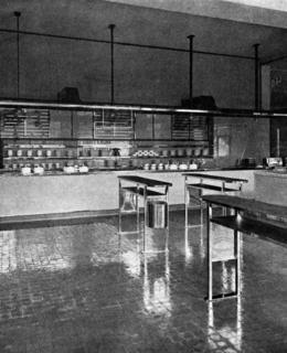 Bufet v Černém pivovaru (převzato ze Styl, 1934 - 1935)
