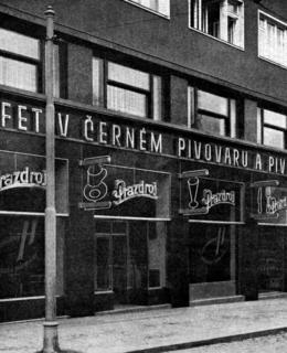 Černý pivovar po dostavbě, po roce 1933 (převzato ze Styl, 1934 - 1935)