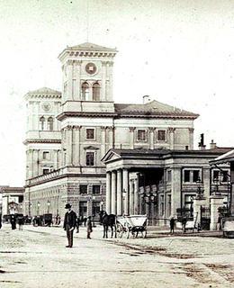 Ignác Ullmann - Antonín Barvitius, původní nádraží Františka Josefa po 1871 (MMP)