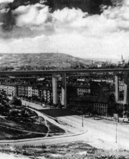 Jiří Kozák, II. cena v soutěži na Nuselský most, konstrukce na principu ocelového rámu, 1961