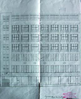Návrh průčelí domu na Slezské ulici, 1927-1930
