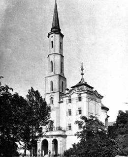 Pohled na kostel sv. Kateřiny na počátku 20. století, snímek NPÚ ÚP