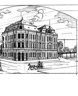Návrh hotelu při Vinohradském nádraží