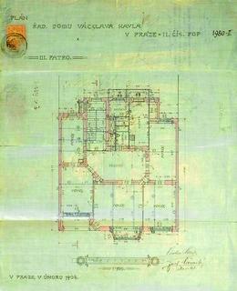 Secesní činžovní domy na Rašínově nábřeží