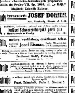 Vila továrníka Josefa Eismana