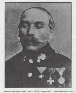Josef Lammer, velitel hasičů v letech 1857-1881