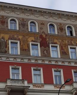 dům Karlovo nám. 288/17 - freska