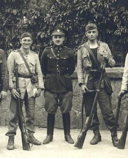 kpt. Karel Pavlík se svými vojáky
