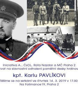 PD Karel Pavlík, pozvánka