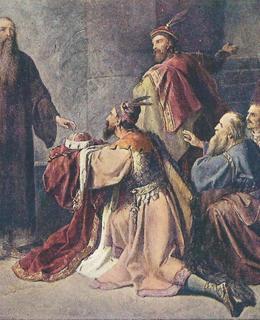 Soběslav II. v roce 1172, když byl po dvanácti letech propuštěn ze žaláře