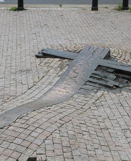 Plastika před Nár. muzeem