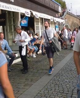 Restaurace Vltava vždy v obležení. Foto srpen 2017 D. Broncová
