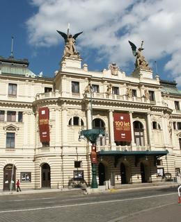 Budova divadla během oslav 100. výročí, foto M. Polák