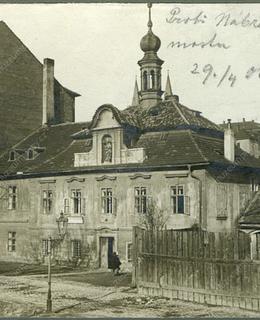 Podskalská radnice, 1908, zdroj: Muzeum hl. m. Prahy