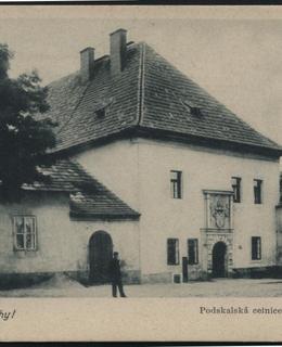 Výtoňská celnice na dobové pohlednici