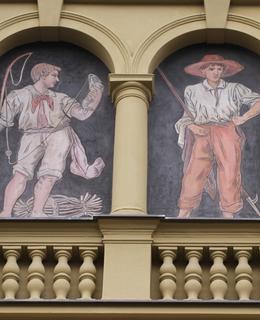 Rybář a Muž s háčkem (foto Milan Polák, 2020)