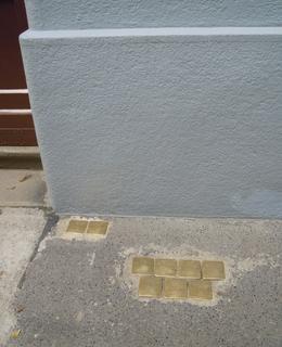 Umístění kamenů před domem (foto D. Broncová)