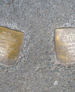 Dva kameny zmizelých Feiglových (foto Dagmar Broncová)