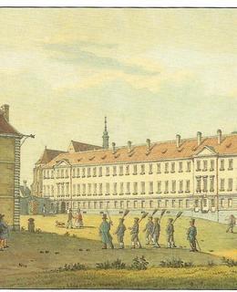 Severní křídlo trestnice na akvarelu V. Morstadta