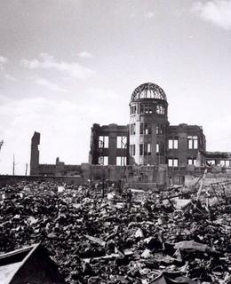 Atomový dóm krátce po výbuchu. Zdroj: Wikipedia