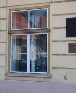 Pamětní desky zakladatelů ústavu (Foto M. Polák, 2020)