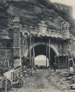 Pohlednice ze stavby tunelu