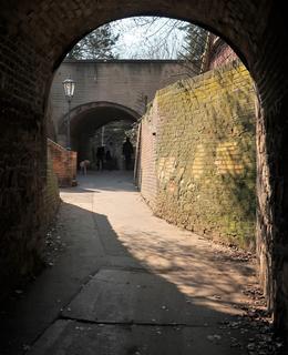 Pohled z tunelu z Nuslí směrem k Podolí (Foto M. Polák, 2020)