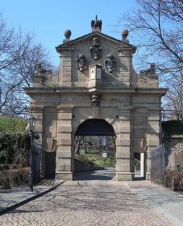 Leopoldova brána (Foto M. Polák, březen 2020)