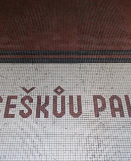 Mozaika ve vchodu do paláce (M. Polák, 2020)
