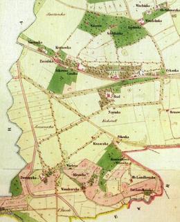 V dolní části mapy je vidět, kde se nacházela usedlost Kozačka (archiv)