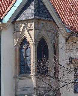 Arkýř kaple sv. Klimenta (Foto M. Polák, 2020)