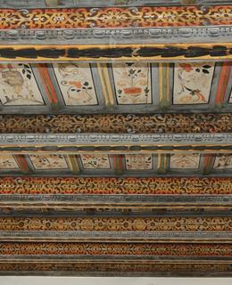 Malované trámové stropy (Foto M. Polák, 2020)