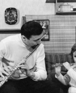 Flétnista s dcerou (archiv)