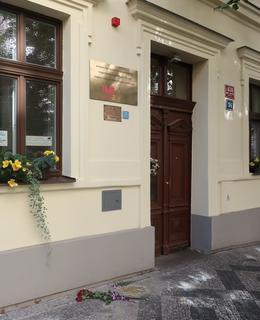 Vchod do Domova pro seniory (Foto M. Polák, 2020)