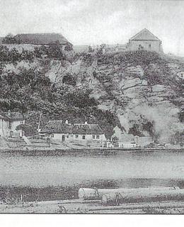 Vltava pod Vyšehradem před stavbou tunelu (archiv Milpo)