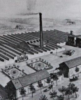Z továrny bří Perutzových v Libni se dochoval jen komín