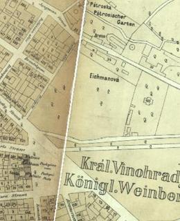 Eichmanka na mapě z r. 1884