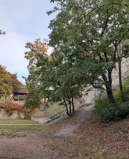 Vpravo je vidět zeď opevnění (foto D. Broncová)