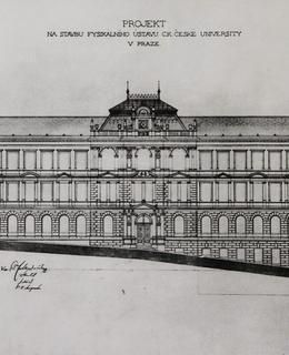 Plány budovy (Zdroj: MFF UK)
