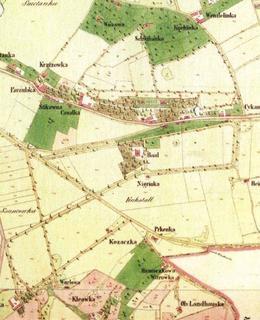 Hamáčková a Větrovka jsou na mapě uprostřed dole